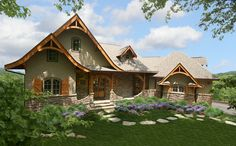 Vaulted Lodge Room and Sweeping Views - 15703GE | 1st Floor Master Suite, CAD Available, Corner Lot, Cottage, Craftsman, Den-Office-Library-Study, Luxury, Mountain, PDF, Photo Gallery, Premium Collection, Split Bedrooms, Vacation | Architectural Designs