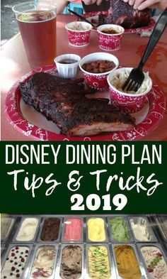 Disney World tips and tricks for getting the most out of the Dining Plan in 2019. Disney vacation secrets and hacks for the Disney Dining Plan. Get more Disney World planning advice at The Frugal South. #disneyworld #traveltips #disneydiningplan #disneywo