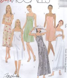 Misses Semifitted Dress Sewing Pattern Bust Back by SewingEtcetera, $4.95