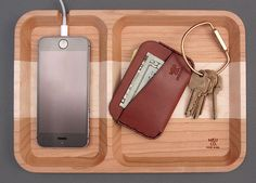 With our collection of everyday carry accoutrements and other gadgets steadily increasing, having a central place to dump the contents of your pockets at the end of the day can make life easier. This can best be accomplished with one of M&U Co.'s wood valet trays. Available in your choice of cherry, walnut, or an assortment...Read More