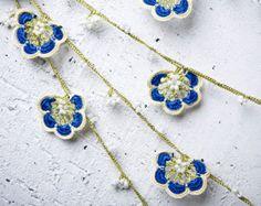 Crochet necklace  turkish lace  needle lace  oya by beyhan1972