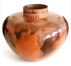 Vessel by Clive Sithole . Burnished smoke-fired clay, Height Since Clive Sithole has just won the ceramics/pottery category in the Ceramic Pots, Ceramic Pottery, African Pottery, Contemporary African Art, Coil Pots, South African Art, Vase Crafts, Play Clay, Ceramic Artists