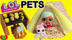 LOL Surprise Pet and Doll Goes Camping