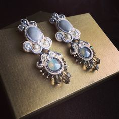 Wedding earrings #soutache