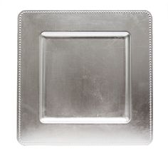 square silver charger plate @ //erikadarden.com  sc 1 st  Pinterest & Square Beaded 13