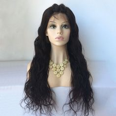 Water Wave Long Lace Front Human Hair Wig
