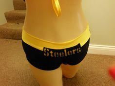 unlined STEELERS  NFL football cheerleading by gabriellescostumes, $35.00