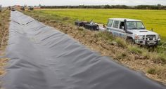Rubber pond liner products | I.S. Dam Lining