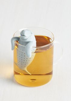 Sea for Two Tea Infuser by Fred - Grey, Solid, Print with Animals, Kawaii, Good, Best Seller, Critters, WPI, Under $20, Summer