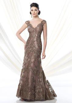 Ivonne D. 214D56 Brown Mother Of The Bride Dress