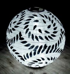 "Limited Edition Black & White 12"" Soji Solar Lanterns $24 each"
