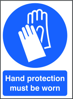 Hand protection must be worn sign.  Beaverswood - Identification Solutions