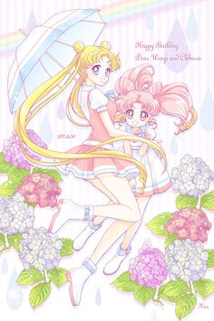 Sailor Moon and Chibiusa Sailor Jupiter, Sailor Mars, Sailor Moon Sailor Stars, Sailor Moon Manga, Sailor Moon Crystal, Arte Sailor Moon, Sailor Moon Fan Art, Sailor Scouts, Princesa Serena
