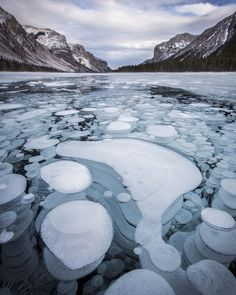"""I am very much looking forward to lacing up the skates in a few weeks and going bubble-hunting at Lake Minnewanka!  I seem to be getting a lot of questions this time of year regarding the """"bubbles"""" so I figured I'd give a quick update on the condition of the lakes here in Banff National Park. This is as of 1-2 days ago.  Along the Icefields Parkway: -Herbert: Fully frozen snow-covered -Hector: Fully frozen partly snow-covered -Bow: Fully frozen snow-covered -Peyto: Fully frozen 1/4 covered…"""