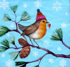 4 x Single  Table Paper Napkins / Craft / Party /for Decoupage / SWEET BIRD