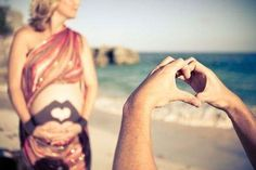 Ideas photo. Pregnancy. Beach. Summer