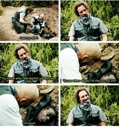 I loved this scene Tig and Hap are the best