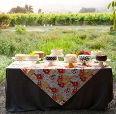 I want a colourful and eclectic cake table, as opposed to one wedding cake :D