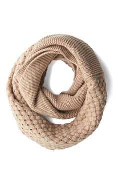 Chill Out on the Town Scarf in Cream. A dip in the temperature isnt going to hold you back from your on-the-go afternoons and out-and-about evenings, especially when you have this cream circle scarf to keep you warm! #cream #modcloth