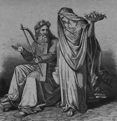 """Bragi    The god of eloquence and poetry, and the patron of skalds (poets) in Norse mythology. He is regarded as a son of Odin and Frigg. Runes were carved on his tongue and he inspired poetry in humans by letting them drink from the mead of poetry. Bragi is married to Idun, the goddess of eternal youth. Oaths were sworn over the Bragarfull (""""Cup of Bragi""""), and drinks were taken from it in honor of a dead king. Before a king ascended the throne, he drank from such a cup."""