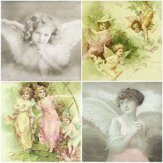 4 xSingle Luxury Paper Napkins for Decoupage Craft Vintage Angel Mix | eBay