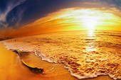 Tropical beach sunset, Thailand