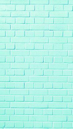 Wall brick wallpaper 26 New ideas Pastel Color Wallpaper, Mint Wallpaper, Iphone Background Wallpaper, Blue Wallpapers, Pretty Wallpapers, Tumblr Wallpaper, Aesthetic Iphone Wallpaper, Colorful Wallpaper, Cool Wallpaper