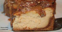 New York cheesecake con toffee y nueces pecan