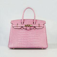Shop hermes crocodile birkin bag pink big veins leather with silver hardware Hermes Birkin, Hermes Bags, Hermes Handbags, Handbags On Sale, Fashion Handbags, Purses And Handbags, Fashion Bags, Birkin Bags, Designer Handbags