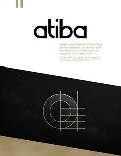 Atiba is a free font that aims to combine perfect geometric curves with solid straight lines to create a sportive, energetic and timeless look. Free Typography Fonts, Free Typeface, Sans Serif Fonts, Font Free, Art Deco Font, Geometric Font, Logo Design Inspiration, Clip Art, Straight Lines