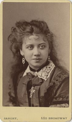 My What Big Eyes You Have! - Sarony Carte de Visite of Rosina Vokes | Flickr - Photo Sharing!
