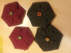 Monederos origami patchwork
