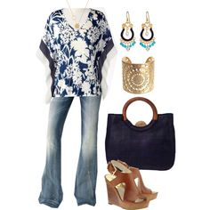 Navy and White - Plus Size, created by alexawebb on Polyvore