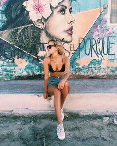 ✕ pinterest: skyllaaarrrr ✕ summer spring fashion style denim beach sand surf sunnies sunglasses hair travel