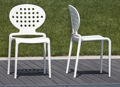 Contemporary stacking indoor/outdoor chair Holes by Scab  #gardenfurniture #patiofurniture #outdoor #furniture #chairs #recyclable #stackable #plastic #contemporary #modern #italian
