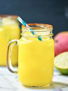 Habanero, Mango, Lime, Tequila. Spicy, sweet, fruity, tart. Sounds like the making of the perfect Mango Habanero Margarita!
