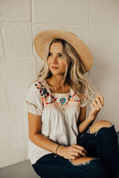 Follow My Lead Embroidered Blouse | ROOLEE #ROOLEEfave