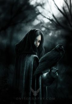 Audra with Luthais's raven