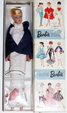 Vintage HTF Registered Nurse Dressed Box Barbie Lemon Swirl Ponytail Complete #Mattel