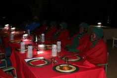 Nights were chilly and blankets kept diners warm