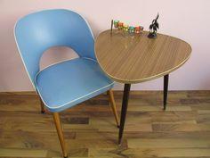 Vintage Nierentisch / Dreibein Tisch, Beistellttisch, Tisch, Resopal, 60er Jahre, Dreieckig von ShabbRockRepublic auf Etsy