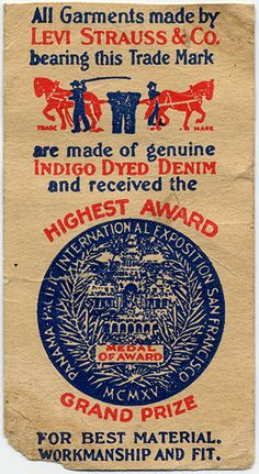 vintage Levi Strauss label