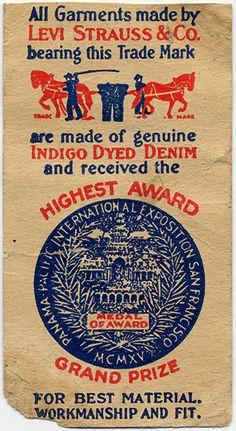 vintage Levi Strauss label