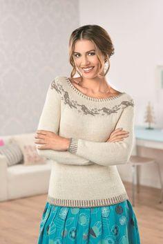 Ravelry: Dawn Chorus pattern by Anniken Allis Knit Fashion, Womens Fashion, Knitting Patterns, Crochet Patterns, Fair Isle Knitting, Cozy Sweaters, Bunt, Color Combinations, Knit Crochet