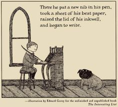 """Thanks for your card telling me you are having a nervous breakdown"""" wrote book editor Ursula Nordstrom to Edward Gorey on January 28, 1972. """"Welcome to the club. I think you know that I have His and Her straitjackets hanging in my office. Come down and slip into one and we can have a good talk."""""""