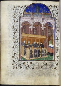 Miniature of monks in a choir, from the Psalter of Henry VI, Paris, c. 1405-10