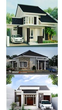 Below are 20 small house designs compiled to give you inspiration if you are looking for a small house to build. First image direct below is also featured in pinoyeplans complete with floor plans and [. Box House Design, Bungalow House Design, Small House Design, Modern House Design, Elevated House Plans, Narrow House Designs, One Storey House, Box Houses, Best House Plans