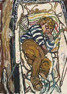 Artworks of John Bratby (British, 1928 - Artist Painting, Artist Art, John Bratby, Alec Guinness, Royal Academy Of Arts, English Artists, Abstract Shapes, Art Education, Figurative Art