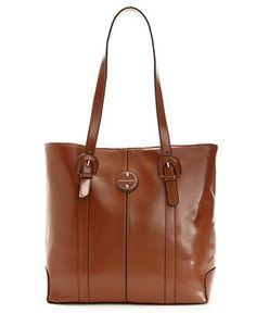 Franco Sarto Handbag, Leather Park Place Tote - Tote Bags - Handbags & Accessories - Macy's