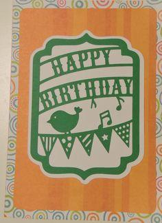 Silhouette Cameo, birthday bird cutout